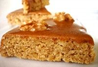 Walnotentaart met koffieglazuur, geraffineerd Frans recept   Eten en Drinken: Recepten