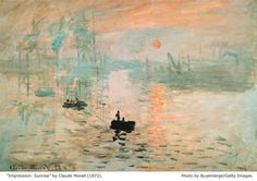 Famous paintings Impression Sunrise by Monet 1872 - Photo by Buyenlarge/Getty Images