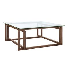 Kyra Coffee Table 105x105cm  Walnut/Glass