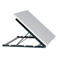Mesa confecção multifuncional - idéia sistema de inclinação. Considerando ser uma mesa comprida, pensar mais de dois pontos de apoio para nivelamento de altura.