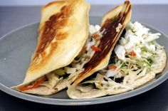 Crispy black bean tacos with slaw and feta by smitten kitchen, via Flickr. Quick, easy, and yummy.