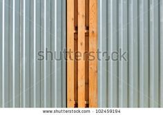 metal and wood fencing - Google Search
