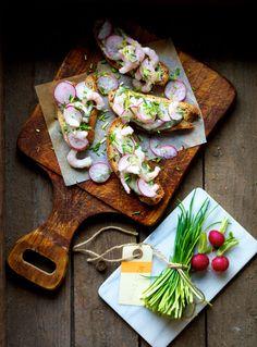 Shrimp smørrebrød from the new cookbook (in Danish) Ny nordisk hverdagsmad