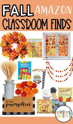 Check out this list of my favorite Fall Amazon classroom finds to help bring those cozy Fall vibes into your classroom space! Fall classroom decorations, treats, and book ideas included!