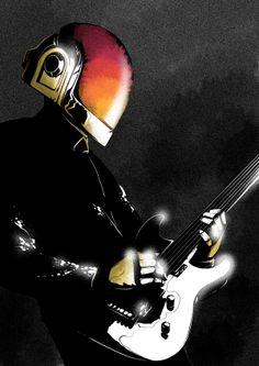 Daft Punk by Matt Taylor, via Behance