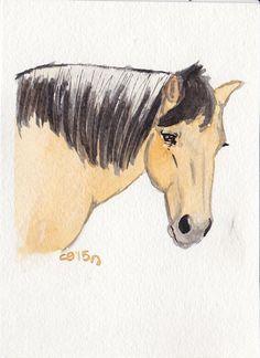 Horse portrait # 3 by IckyDog on DeviantArt