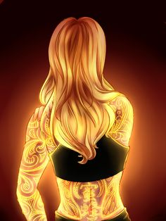 Chole with a bee miraculous tattoo (Miraculous Ladybug)