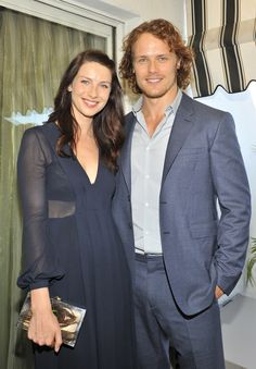 "Outlander Stars Sam Heughan and Caitriona Balfe on Their ""Tough"" Onscreen Moment Ahead"