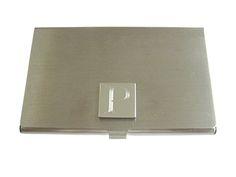 Letter F Etched Monogram Business Card Holder