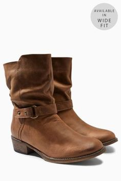 31e5c21d7bf Buy Tan Leather Casual Strap Ankle Boots from the Next UK online shop