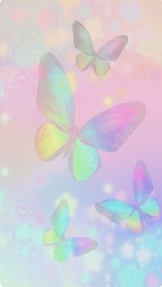 😍😍😍😍 new phone wallpaper. Rainbow Wallpaper, Butterfly Wallpaper, Kawaii Wallpaper, Cute Wallpaper Backgrounds, Butterfly Art, Wallpaper Iphone Cute, Cellphone Wallpaper, Pretty Wallpapers, Colorful Wallpaper
