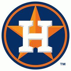Houston Astros Secondary Logo (2013) - White H on orange star on blue and orange circle