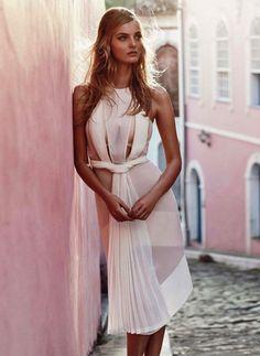 sweetly unusual chic white sheer dress. modern Greek goddess