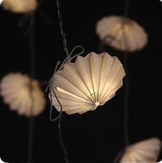 'origami disc' handmade paper light string by the forest & co | notonthehighstreet.com