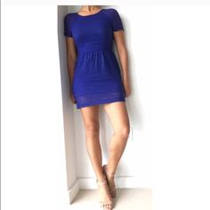 FREE PEOPLE Royal Blue Dress ❤️ Size 4. Great condition!! Beautiful cobalt color  Free People Dresses