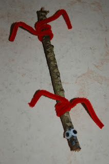 Amazingly Simple Bug Crafts - could paint the sticks too!