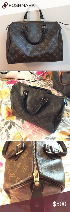 💯 Authentic custom dyed Louis Vuitton Speedy 30 Beautiful authentic LV Speedy 30, with black dyed vachetta leather! A gorgeous update to the classic speedy 💕 Louis Vuitton Bags Satchels