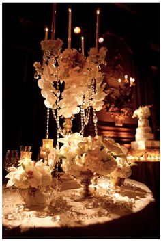 beautiful tablescape with the beads and candles