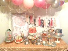 New Year's Eve Boy Girl Glittery Glam Baby Shower Planning Ideas