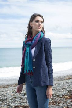 Available from House of Ireland | Cosmo Scarf | Handmade scarves | Handmade in Ireland | Irish Design | Weaving & Knitting
