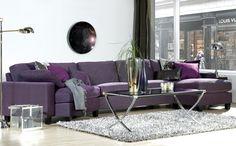 interiør lilla Sofa, Couch, Colour, Purple, Furniture, Home Decor, Color, Settee, Settee