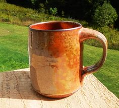 Carbon Trap Bell Wood-Fire Mug by splitfirepottery on Etsy