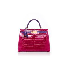 Heritage Auctions Special Collection Hermes 35cm Rose Shocking &... ($160,315) ❤ liked on Polyvore featuring bags, handbags, crocodile embossed handbags, rosette handbag, rose purse, rose handbag and crocodile handbag
