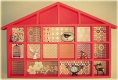 Painted wall house with retro paper