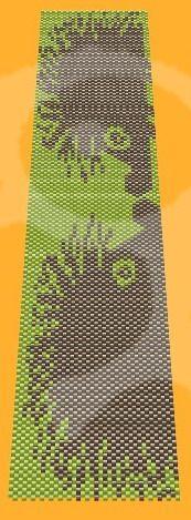 Bratara model Arici - din margele de nisip in tehnica peyote -  poate fi realizata in orice alta combinatie de culori