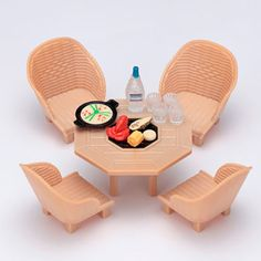 Calico-Critters-Sylvanian-Families-SEASIDE-BARBECUE-SET-Epoch-Japan