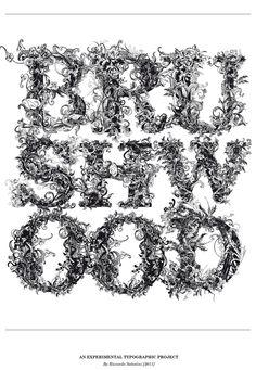 """""""Brushwood"""" Typeface by Riccardo Sabatini"""