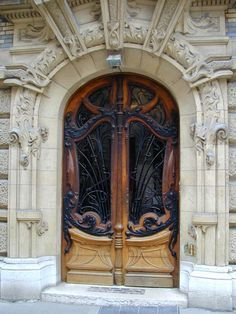 Date Photographed: 28 March 2003 Description: Paris, France: 3 Square Rapp: door (art nouveau, 1899-1900, architect Jules Lavirotte)