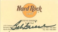 A TRUE ONE OF A KIND IN PERSON1997 BOB GRIESE AUTOGRAPHED BUSINESS CARD OF MINE.
