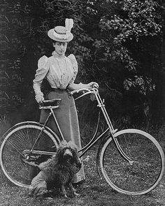 Bike Path, Tennis Dress, Princess Victoria, Belle Epoque, Victorian Era, Wales, Royalty, Bicycle, Painting