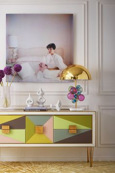 The Harlequin Credenza features glass panes back-painted with soft hues creating striking angular forms. A glamorous statement piece ideal for any modern dining room. Furniture Plans, Home Furniture, Modern Furniture, Furniture Design, Antique Furniture, Rustic Furniture, Outdoor Furniture, Furniture Cleaning, Smart Furniture