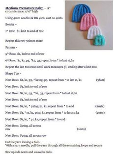 Baby Hat Knitting Patterns Free, Dishcloth Knitting Patterns, Baby Cardigan Knitting Pattern, Baby Hats Knitting, Baby Patterns, Knitted Hats, Knitting Squares, Clothes Patterns, Knit Patterns