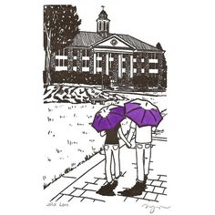 JMU Love. I bought one just like this on Etsy - the artist is a JMU alumna and very talented. I had my umbrellas painted purple and gold!