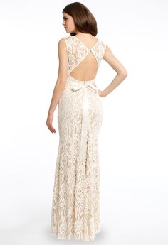 Open Back Lace Prom Dress #camillelavie #CLVprom