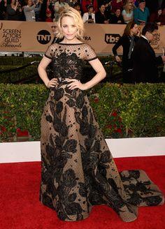 Rachel McAdams wears Elie Saab Haute Couture design  at 2016 SAG Awards