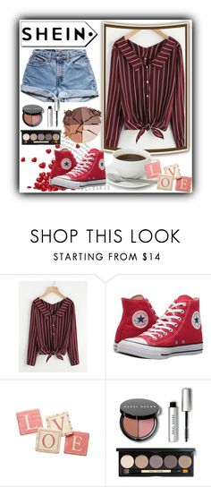 """""""love shein"""" by scarlet-4 ❤ liked on Polyvore featuring Levi's, Converse, Pier 1 Imports, Bobbi Brown Cosmetics and lilah b."""