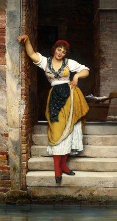 la bella veneziana   Eugen von Blaas.