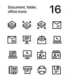 Document, folder, office icons for web and mobile design pack 4 stock photo (c) karetniy (#8305730) | Stockfresh