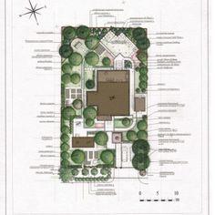 Ландшафтный проект сад 2 эскизный план 3. Дендроплан