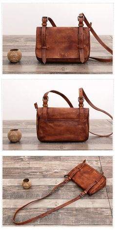 Genuine Leather Crossbody Shoulder Bag Messenger Bag