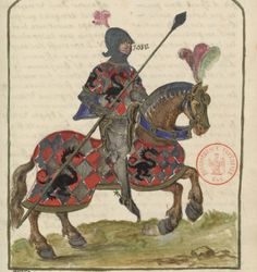 Domaine Public, Trumpets, Bnf, Illuminated Letters, 15th Century, Knights, Genealogy, Warriors, Tarot