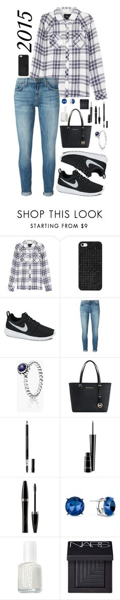 """""""Rachel"""" by sapphire-bloom5 on Polyvore featuring Rails, BaubleBar, NIKE, Current/Elliott, Pandora, Michael Kors, Christian Dior, MAC Cosmetics, Mary Kay and Kenneth Cole"""