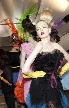 Backstage….Christian Dior Haute Couture Winter 2010