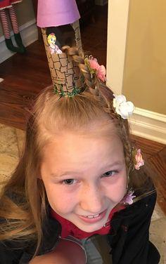 Rapunzel hair for crazy hair day Rapunzel hair for crazy hair day can find Rapunzel and more on our website.Rapunzel hair for crazy hair day Rapunzel hair for crazy hair . Crazy Hat Day, Crazy Hair Day Girls, Crazy Hair For Kids, Crazy Hair Day At School, Days For Girls, Crazy Hats, Carnaval Costume, Wacky Hair Days, Christmas Hair
