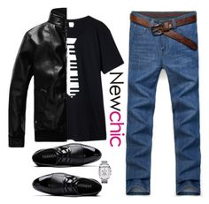 """Newchic ~piano guy~"" by gabygirafe ❤ liked on Polyvore featuring men's fashion, menswear and menswearessential"