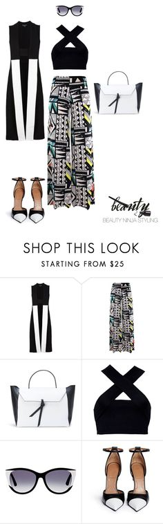 """""""Art Decco ~ Styled by @beautyninjastyling"""" by beautyninjastyling ❤ liked on Polyvore featuring Narciso Rodriguez, Alexandra de Curtis, Motel, Thierry Lasry and Givenchy"""